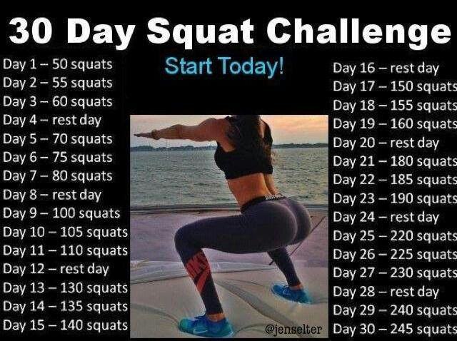 30 Day Squat Challenge | Chanelle Hayley