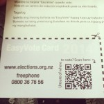 Easy vote card