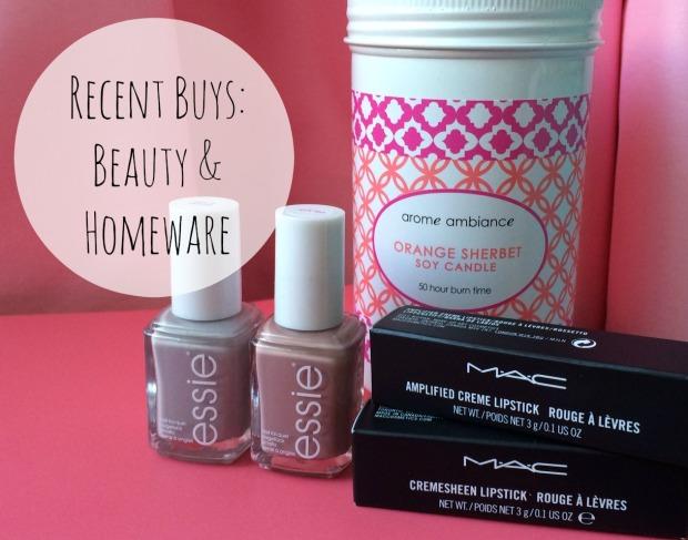 Recent Buys Beauty & homeware