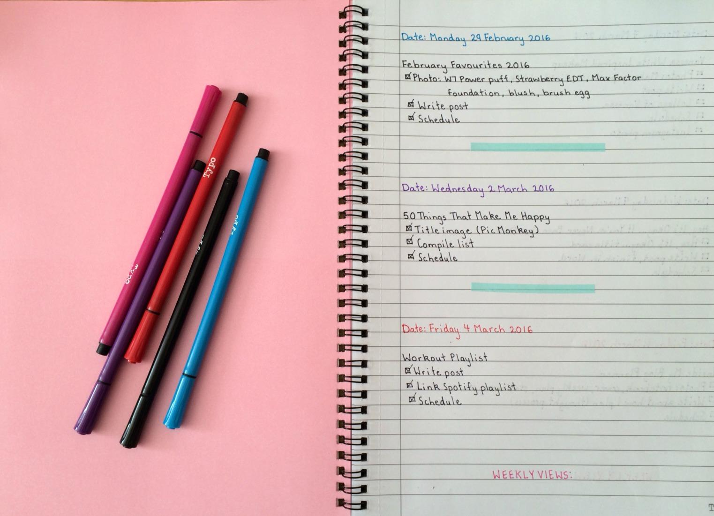 Complete Week in Blog Planner