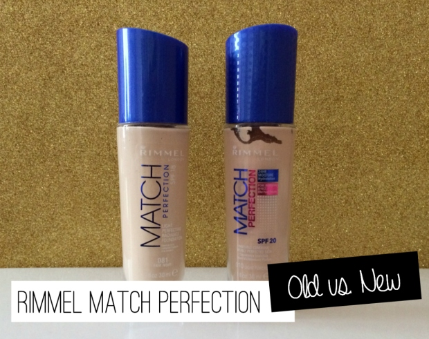 Rimmel Match Perfection Old vs. New