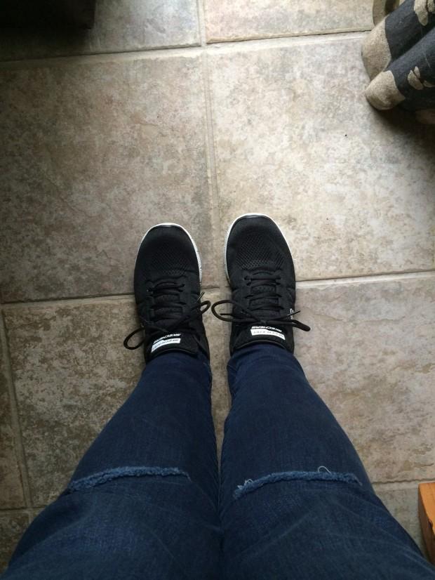 Wearing Skechers Flex Appeal