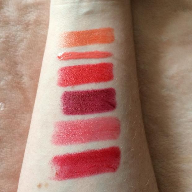 Orange & Red Lipstick Swatches