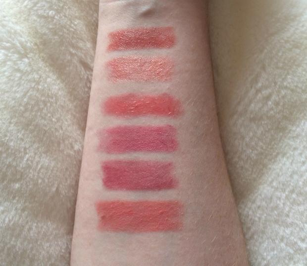 Peach & Light Pink Lipstick Swatches