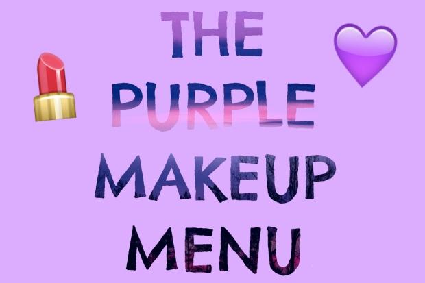 The Purple Makeup Menu